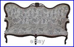F38757EC Victorian Style Mahogany Carved Sofa