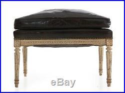 FRENCH ANTIQUE SOFA Louis XVI 3-Part Chaise Longue Lounge, 19th Century