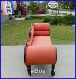 Fantastic Mahogany Federal Empire Lounge Sofa RecamierClaw FeetEagle Head