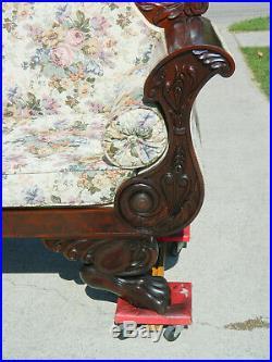 Fantastic Mahogany Federal Empire Sofa Settee circa 1840