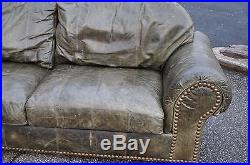 Ferguson Copeland Redonda Tan Leather Sofa 1995 Home