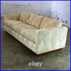 Floating Tuxedo Style Sofa in the Manner of Milo Baughman