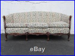 French Carved Long Solid Wood Sofa Couch 9052A
