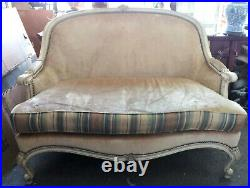 French Country Louis XV Style Creamy Gold Settee Loveseat Sofa by WESLEY HALL