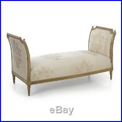 French Louis XVI Style Gray Painted Antique Daybed Sofa, 19th Century