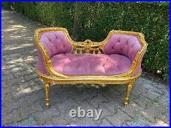 French Louis XVI Style Settee in velvet