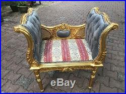 French Louis XVI style Bench/Stool/Chair/Small Sofa