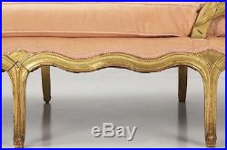 French Louis XV Style Antique Chaise Lounge Longue Recamier Settee, 19th Century