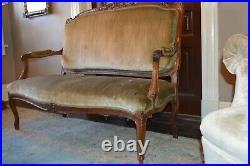 French Louis XV Style Sofa C. 1850