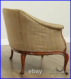French Louis XV Style Vintage 1950's Pair Loveseats