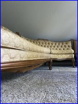 French Provincial Antique 3 Piece Couch