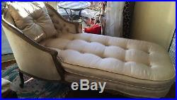 French Vintage Louis XV Style Chaise Lounge