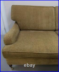 Georgeous Signature George Smith Three Seater Sofa On English Roll Arms & Castor