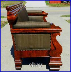 Gorgeous American Empire Mahogany Sofa circa 1850
