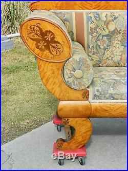 Gorgeous Biedermeier Inlaid Sofa