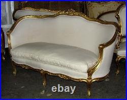 Gorgeous Italian Gilded Louis XV Corbeille Sofa Settee Canapé