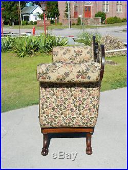 Gorgeous Mahogany Federal Empire High Arm Sofa Settee circa 1830
