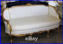 Gorgeous Vintage Gilded French Louis XV Settee Sofa