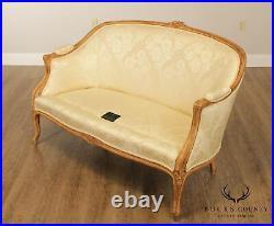 Greenbaum Interiors French Louis XV Style Custom Upholstered Loveseat