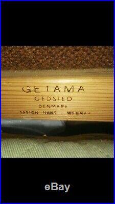 HANS WEGNER for GETAMA GE-236/4 TEAK SOFA ORIGINAL UPHOLSTERY