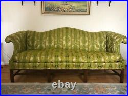 HICKORY CHAIR CO Chippendale Camel Back Sofa