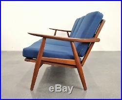 Hans Wegner Teak GE-270 Sofa Mid-Century Danish Modern Couch 1950s Getama 1960s