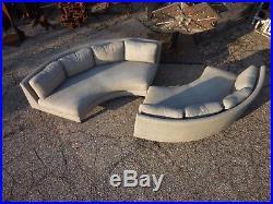 Harvey Probber 1/2 Circle 2pc Sectional Sofa Mid Century Modern Baughman Era