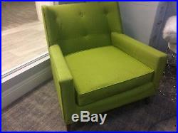 Harvey Probber Model 371A Lime Green Lounge Chairs, Modern mid century Pair