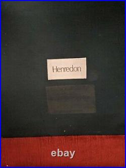 Henredon Vintage Classic Red Velvet Sofa with Down Filled Pillows
