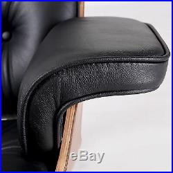 Herman Miller Eames Lounge Chair Ottoman Full Genuine Leather Black Palisander