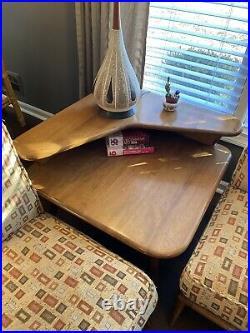 Heywood Wakefield 5 Piece Convertible Living Room Set Champagne Mid Century MCM