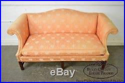 Hickory Chair Mahogany Frame Chippendale Style Sofa