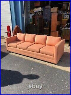 High Quality MID Century Modern 4 Cushion Milo Baughman Or Baughman Style Sofa
