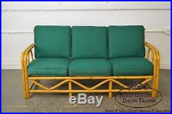 Imperial Reed & Rattan Vintage Bamboo Frame Sofa