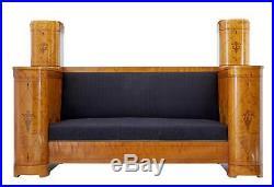 Impressive Art Deco Birch Inlaid Large Cabinet Sofa