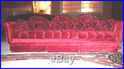 Incredible Mid-Century Modern Hollywood Regency Sofa with Original Cushions