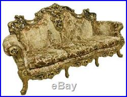 Italian Baroque Style Giltwood Upholstered Sofa
