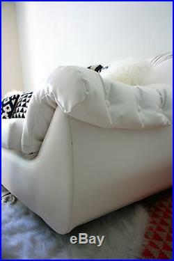 Italian Mod White Space Age Sofa Huge & Comfortable