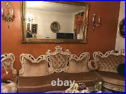 Italian Rococo Antique Couch/Sofa Set, 3 Piece Set