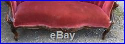 J. & J. W. Meeks Pierced Carved Laminated Rosewood Hawkins Pattern Sofa