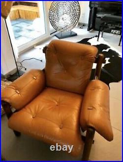 Jean Gillon 1960s Brazilian Jacaranda Rosewood Three-Seat Sofa Plus Chair