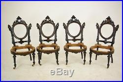 John Jelliff, Ebonized Parlor Set, Victorian, Revival Parlor Set, 1800s, B701