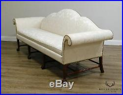 Kindel Irish Georgian Collection Mahogany Ball & Claw Camelback Sofa