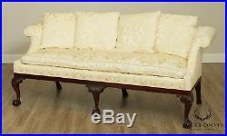 Kindel Winterthur Philadelphia Chippendale Style Mahogany Ball & Claw Sofa