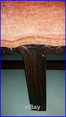 Kittinger Camel-Back Sofa, Mahogany Chippendale Legs Williamsburg Style