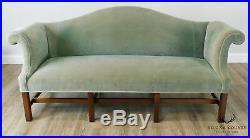 Kittinger Colonial Williamsburg Chippendale Style Mahogany Camelback Sofa