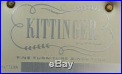 Kittinger Historic Newport Mahogany Chippendale Sofa Blue Silk Damask Fabric