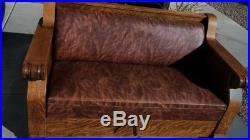 Kroehler Mfg. Co. Antique Oak Hide a bed sofa