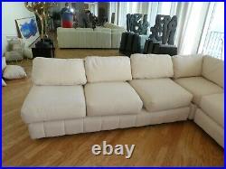 Large 1970's Italian John Mascheroni Sectional Sofa