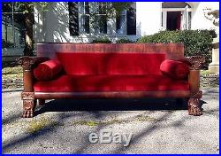 Large Scale Empire Sofa with Paw Feet